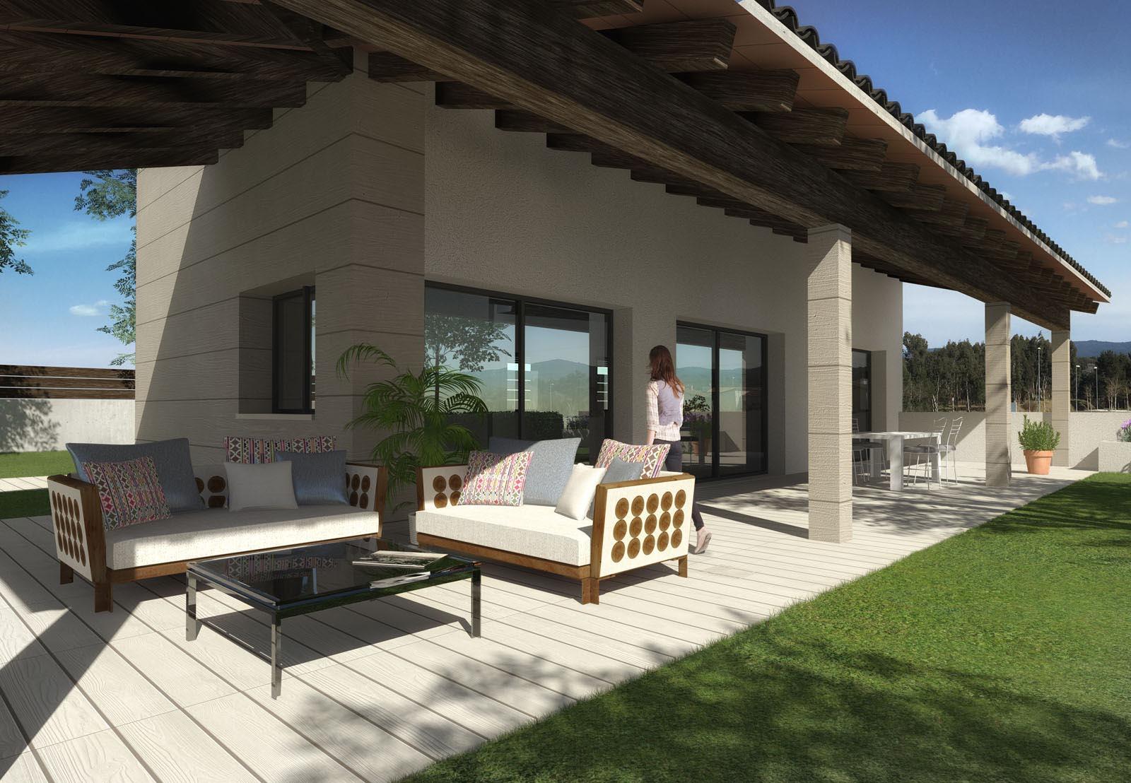 Render promoció cases la selva, girona. anbimedia 3D